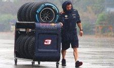 Nové mokré pneumatiky nestihnou začátek sezony