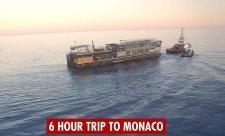 Takhle do Monaka připlula Energy Station