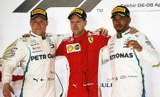 Vettel skvělým finišem uhájil vítězství před Bottasem