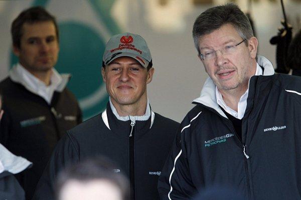 Brawn také něco naznačil o Schumacherovi