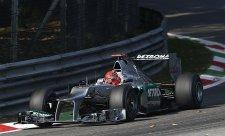 Schumacher otevřel italský víkend nejrychlejším časem
