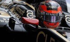 V prvním propršeném tréninku nejrychlejší Grosjean