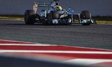 V závěrečném dni testů byl nejrychlejší Hamilton