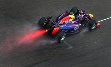 Ve třetím tréninku zapršelo, Ricciardo na čele