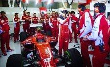 Také druhý den testů patřil Ferrari