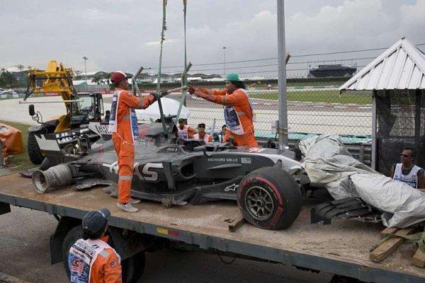 Haasu byla vyplacena pojistka za Grosjeanovu havárii