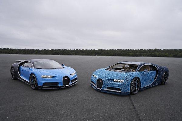 Z milionu kostek lega vzniklo Bugatti Chiron