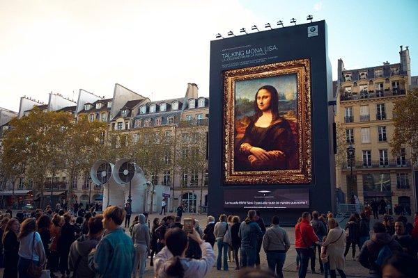 Mona Lisa propagovala technologii BMW