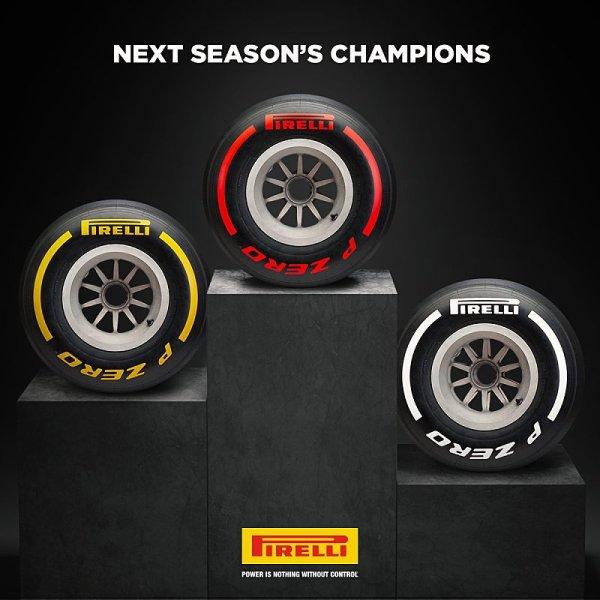 Pirelli ukázalo tři barvy pneumatik pro příští sezonu