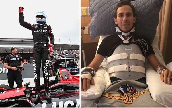 Zraněný Wickens poprvé po nehodě promluvil