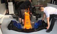 McLaren trénoval s novým nosem