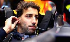 Ricciardo opravdu neutekl před Verstappenem