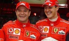 Barrichello a Schumacher jsou stále nedostižní