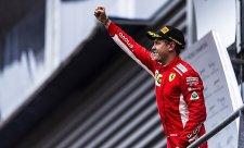 Vettelova chvíle přišla nahoře na kopci