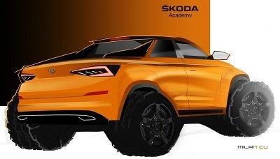 Učni si staví Škodu Kodiaq ve verzi pickup