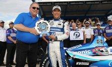 Sató okořenil nejlepší sezonu v zámoří dalším pole position