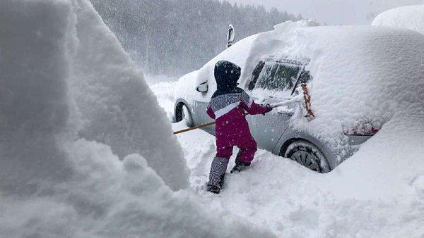 Sněhová kalamita v Alpách
