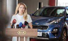 Čaputová navštívila žilinský závod značky Kia