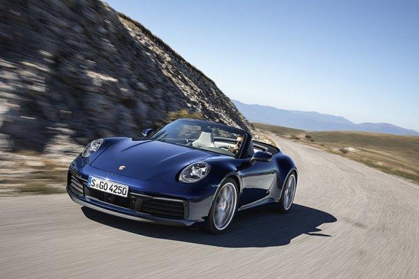Sportovní trojlístek v expozici Porsche