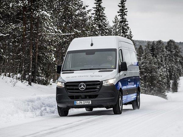 Testy Mercedesu eSprinter za polárním kruhem