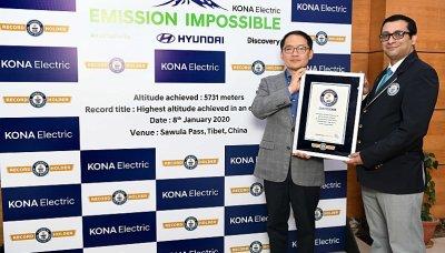 Hyundai Kona Electric je v Guinessově knize rekordů