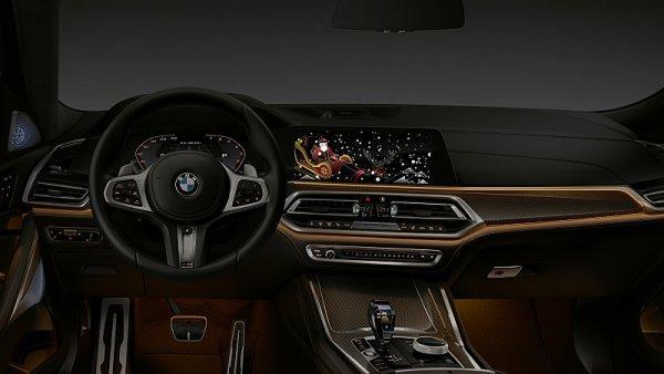 Vánoční a novoroční poselství od BMW přímo do vozu