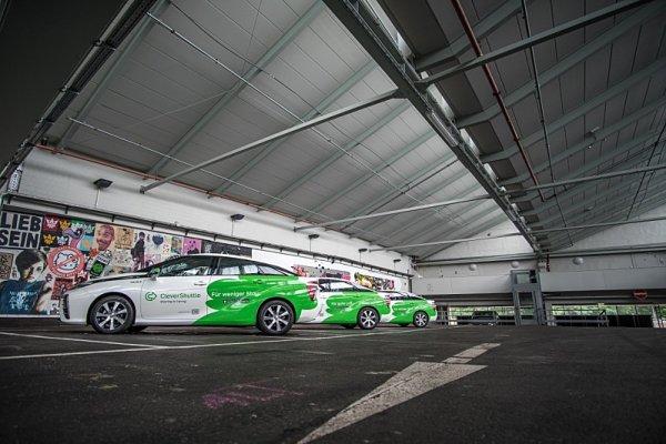 Sdílení vozidel na vodík funguje