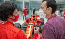 Sainzův nezapomenutelný den u Ferrari