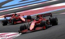 Ferrari zničila degradace pneumatik
